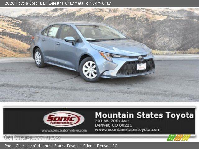 2020 Toyota Corolla L in Celestite Gray Metallic