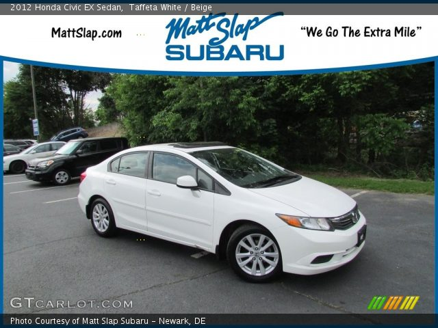 2012 Honda Civic EX Sedan in Taffeta White