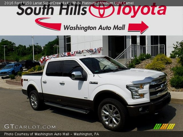 2016 Ford F150 Lariat SuperCrew 4x4 in White Platinum