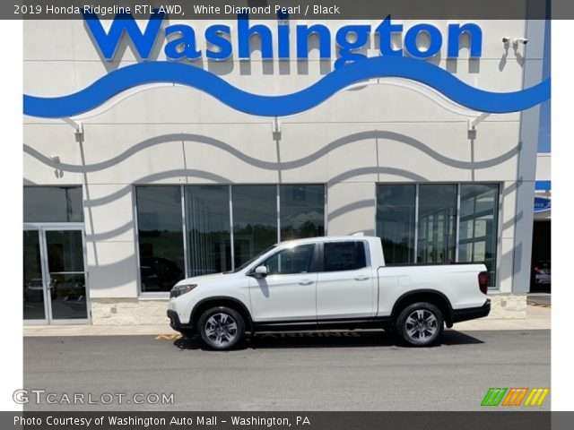 2019 Honda Ridgeline RTL AWD in White Diamond Pearl