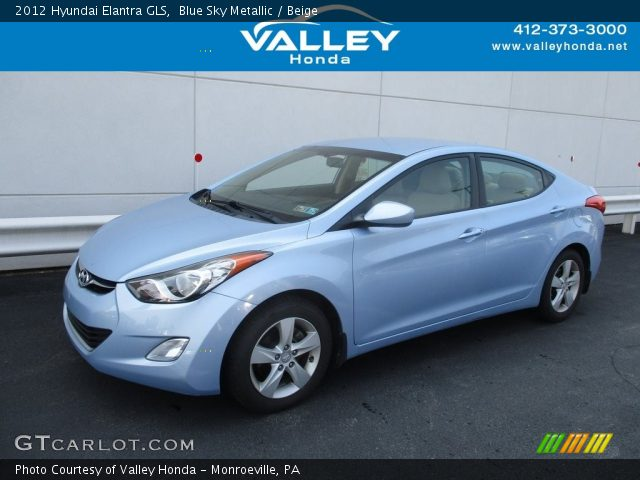 2012 Hyundai Elantra GLS in Blue Sky Metallic