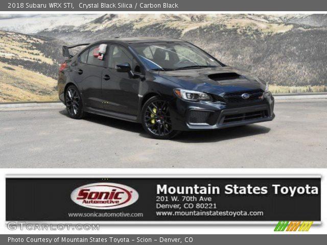 2018 Subaru WRX STI in Crystal Black Silica