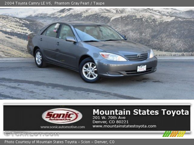 2004 Toyota Camry LE V6 in Phantom Gray Pearl