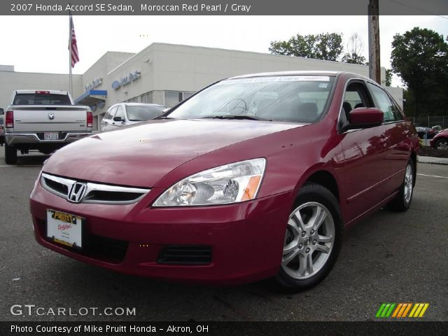 2007 Honda Accord SE Sedan in Moroccan Red Pearl