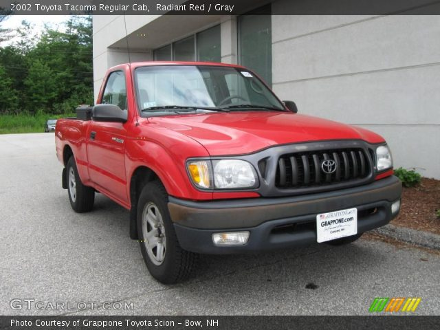 radiant red 2002 toyota tacoma regular cab gray interior vehicle archive. Black Bedroom Furniture Sets. Home Design Ideas