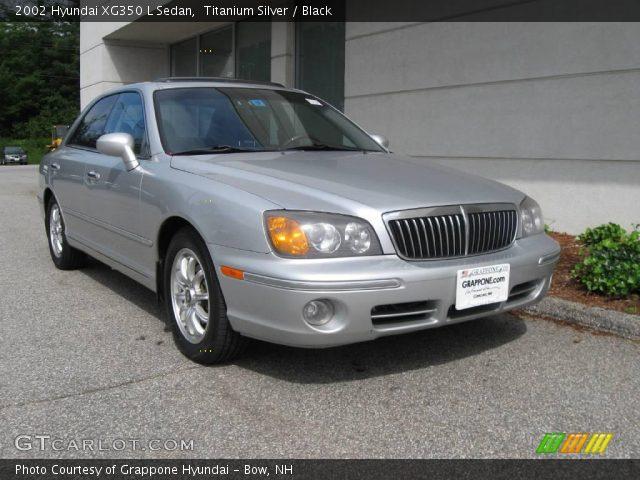 2002 hyundai xg350 l sedan in titanium silver click to see large