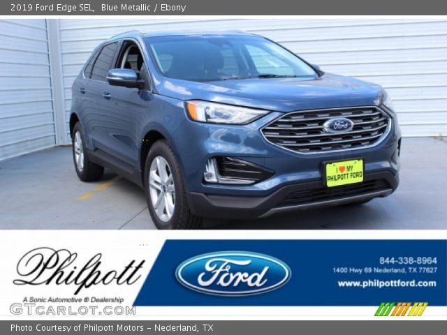 2019 Ford Edge SEL in Blue Metallic