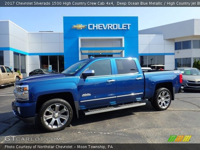 2017 Chevrolet Silverado 1500 High Country Crew Cab 4x4 in Deep Ocean Blue Metallic