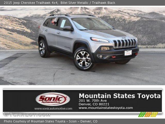 2015 Jeep Cherokee Trailhawk 4x4 in Billet Silver Metallic