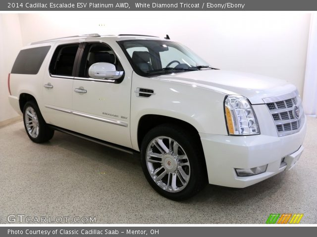 2014 Cadillac Escalade ESV Platinum AWD in White Diamond Tricoat
