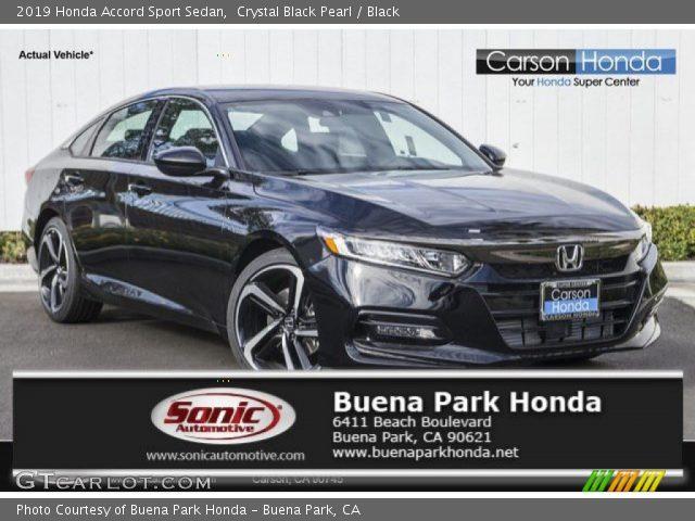 2019 Honda Accord Sport Sedan in Crystal Black Pearl