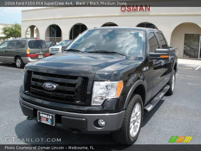 black 2009 ford f150 fx4 supercrew 4x4 black medium. Black Bedroom Furniture Sets. Home Design Ideas