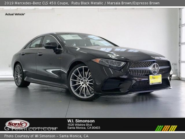 2019 Mercedes-Benz CLS 450 Coupe in Ruby Black Metallic