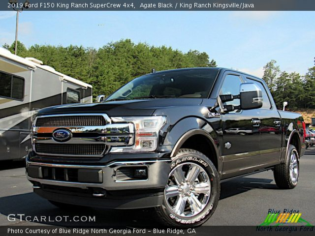 2019 Ford F150 King Ranch SuperCrew 4x4 in Agate Black