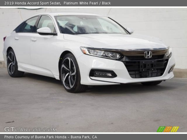 2019 Honda Accord Sport Sedan in Platinum White Pearl