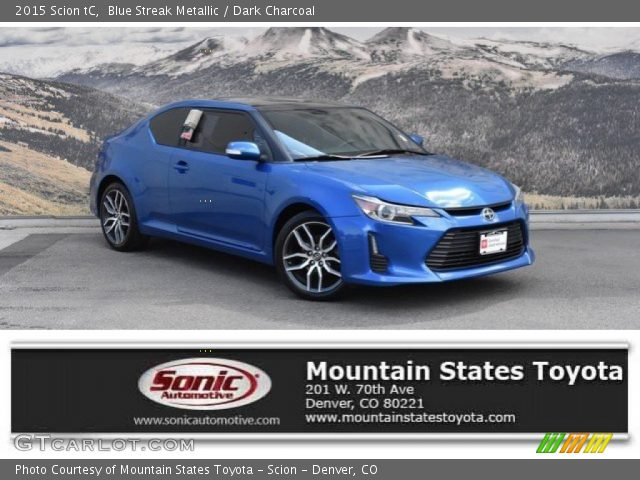2015 Scion tC  in Blue Streak Metallic