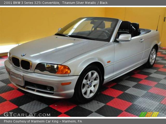 2001 BMW 3 Series 325i Convertible in Titanium Silver Metallic