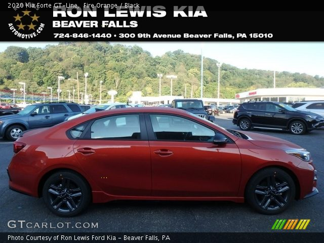 2020 Kia Forte GT-Line in Fire Orange