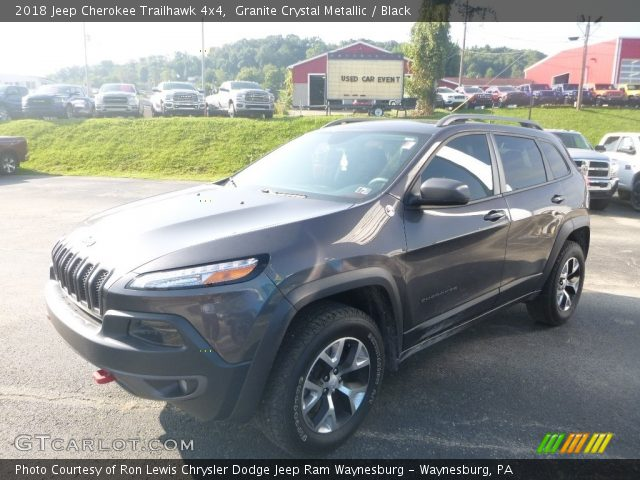2018 Jeep Cherokee Trailhawk 4x4 in Granite Crystal Metallic