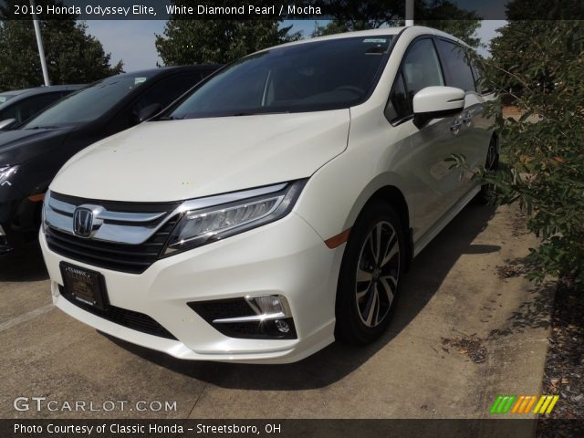 2019 Honda Odyssey Elite in White Diamond Pearl
