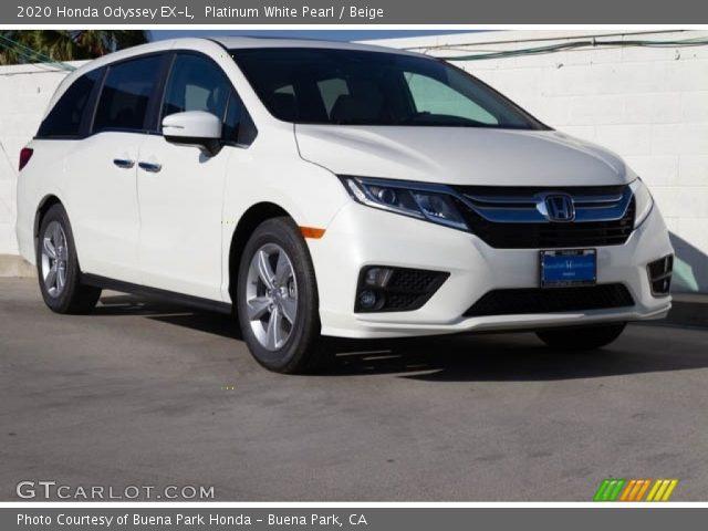 2020 Honda Odyssey EX-L in Platinum White Pearl