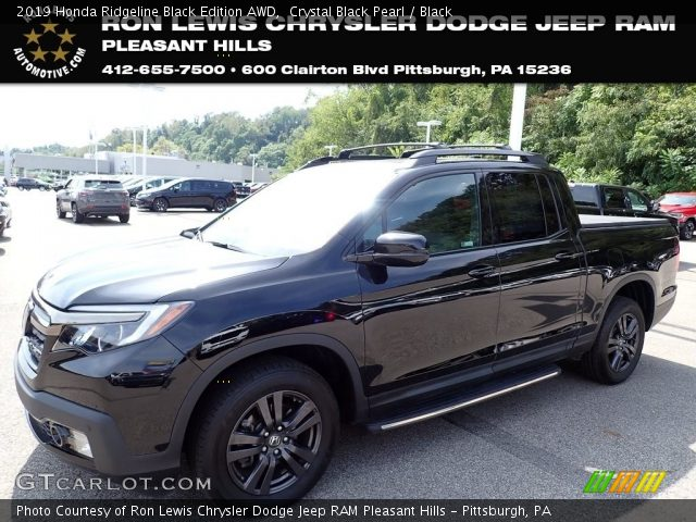 2019 Honda Ridgeline Black Edition AWD in Crystal Black Pearl
