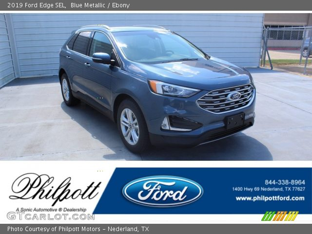 2019 Ford Edge SEL in Blue Metallic