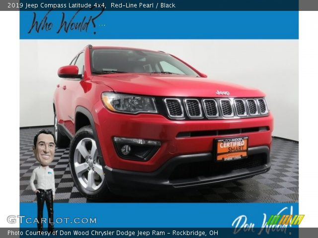 2019 Jeep Compass Latitude 4x4 in Red-Line Pearl