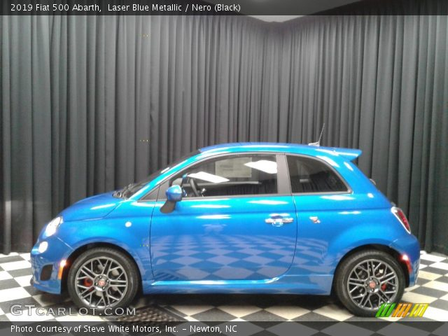 2019 Fiat 500 Abarth in Laser Blue Metallic