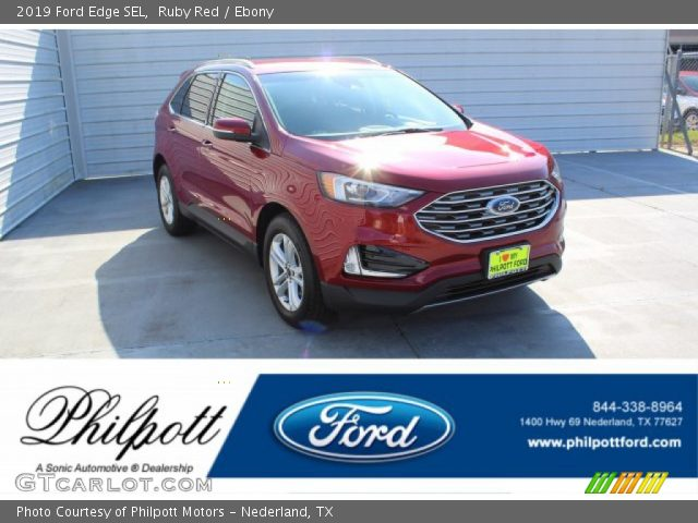 2019 Ford Edge SEL in Ruby Red