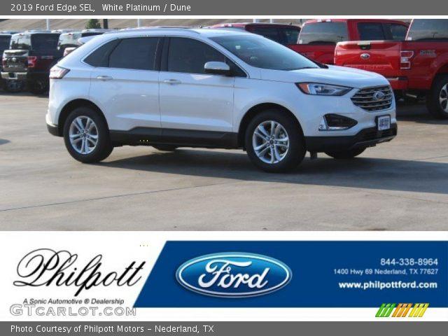 2019 Ford Edge SEL in White Platinum