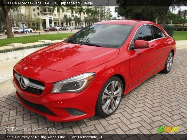 2014 Mercedes-Benz CLA 250 in Jupiter Red