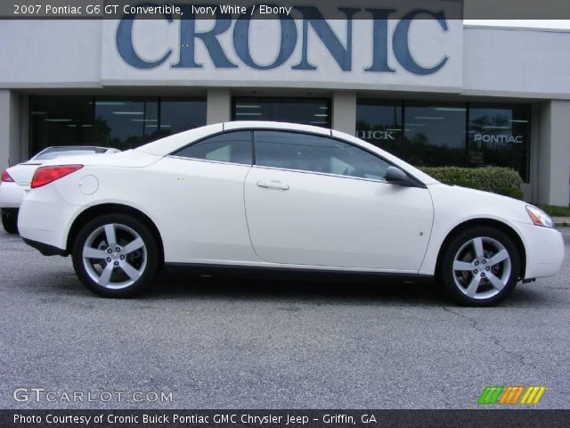 ivory white 2007 pontiac g6 gt convertible ebony interior vehicle archive. Black Bedroom Furniture Sets. Home Design Ideas