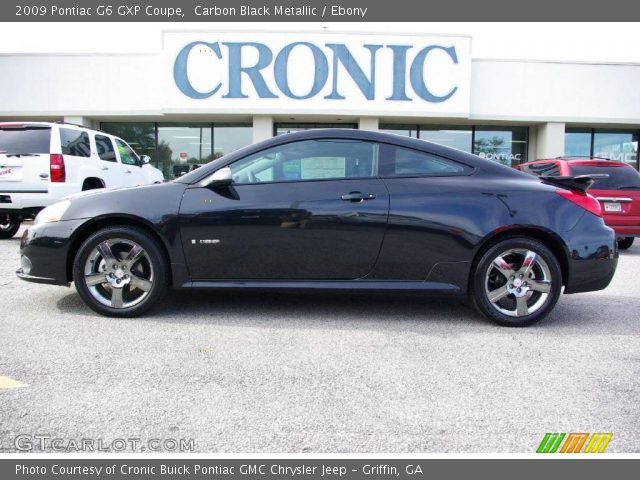 carbon black metallic 2009 pontiac g6 gxp coupe ebony. Black Bedroom Furniture Sets. Home Design Ideas