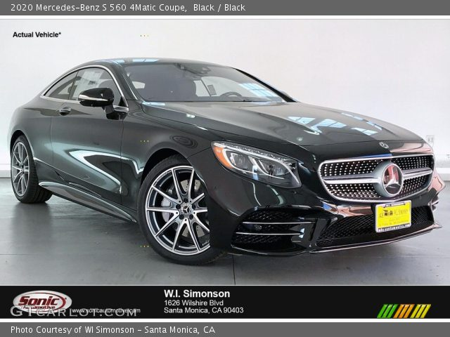 2020 Mercedes-Benz S 560 4Matic Coupe in Black