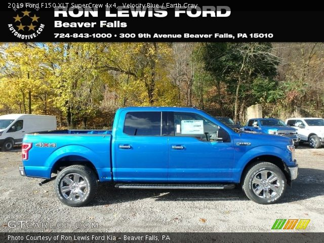 2019 Ford F150 XLT SuperCrew 4x4 in Velocity Blue