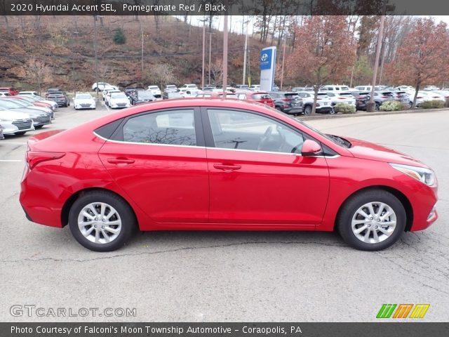 2020 Hyundai Accent SEL in Pomegranate Red