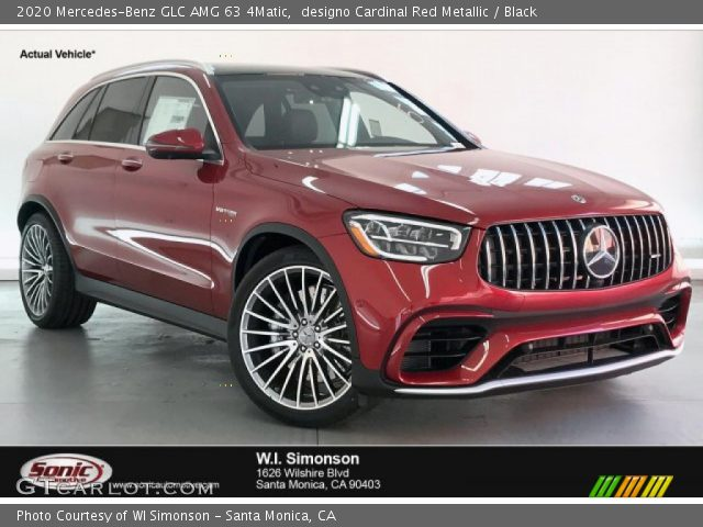 2020 Mercedes-Benz GLC AMG 63 4Matic in designo Cardinal Red Metallic