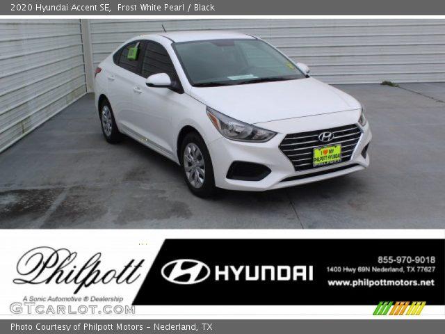 2020 Hyundai Accent SE in Frost White Pearl