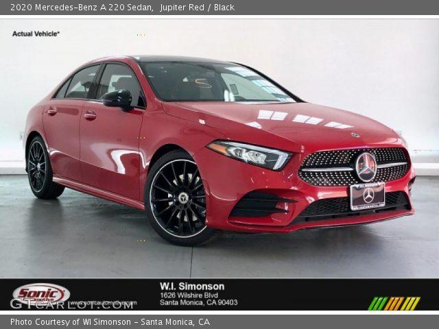 2020 Mercedes-Benz A 220 Sedan in Jupiter Red