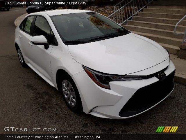 2020 Toyota Corolla L in Super White