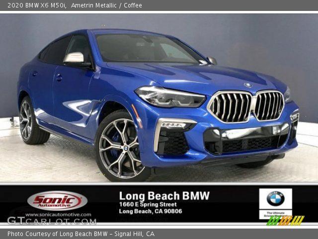 2020 BMW X6 M50i in Ametrin Metallic
