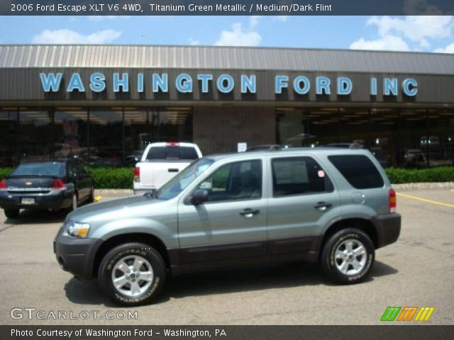 2006 ford escape xlt v6 4wd in titanium green metallic click to see