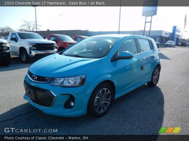 Oasis Blue - 2020 Chevrolet Sonic LT Hatchback - Jet Black ...