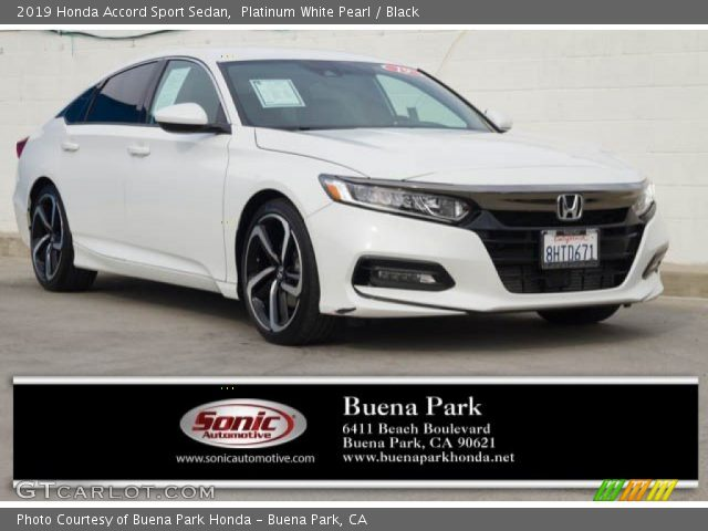 2019 Honda Accord Sport Sedan in Platinum White Pearl