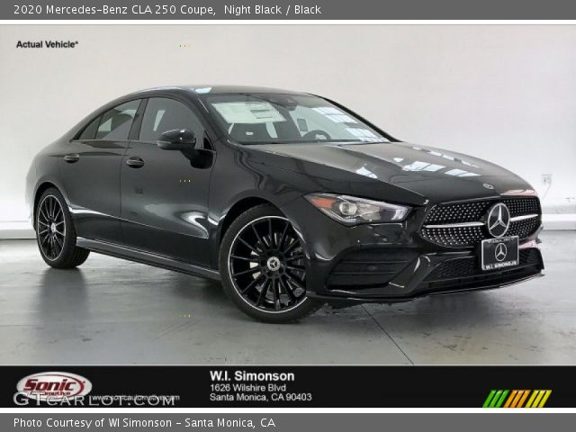 2020 Mercedes-Benz CLA 250 Coupe in Night Black