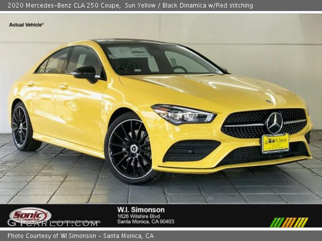 2020 Mercedes-Benz CLA 250 Coupe in Sun Yellow