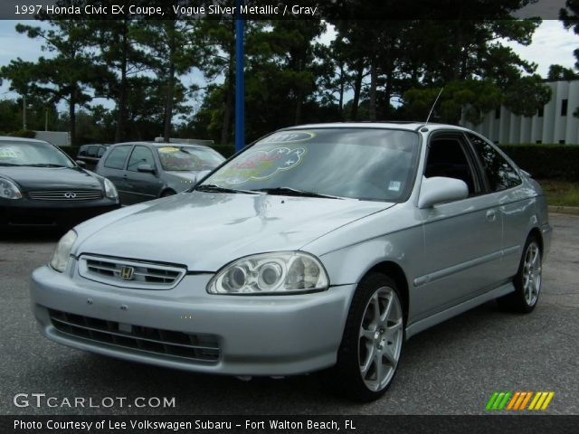 vogue silver metallic 1997 honda civic ex coupe gray interior vehicle. Black Bedroom Furniture Sets. Home Design Ideas
