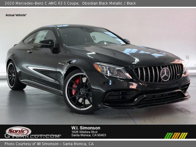 2020 Mercedes-Benz C AMG 63 S Coupe in Obsidian Black Metallic