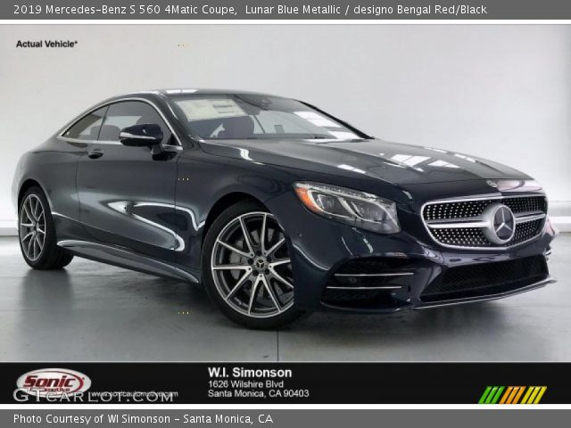 2019 Mercedes-Benz S 560 4Matic Coupe in Lunar Blue Metallic